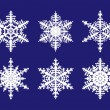 Snowflake set — Stock Vector #3762138
