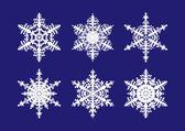 Conjunto de copo de nieve — Vector de stock