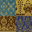 Thai print cloth texture - Stock Photo