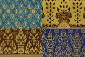 Thai imprime textura de tela — Foto de Stock