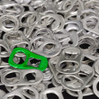 Stock Photo: Recycle aluminum