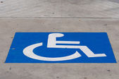 Disabled symbol — Stock Photo