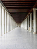 Perspective of agora with marble columns — Photo