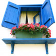 Blue window - Foto Stock