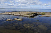 Landscape Lake Ladoga (Karelia, Russia) — Stock Photo