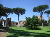 Baths of Caracalla in Rome — Stock Photo
