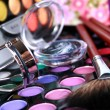A make-up multi colored palette — Stockfoto