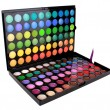 A make-up multi colored palette — Stock Photo