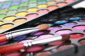 A make-up multi colored palette — Stock Photo