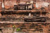 Ruin buddha — Stock Photo