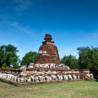 The pagoda at wat Maheyong, Ayutthaya - Stock Photo