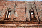 The ruin wall at wat maheyong — Stock Photo