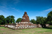 The pagoda at wat Maheyong, Ayutthaya — Stock Photo