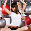 girl in fitness center — Stock Photo #3757841