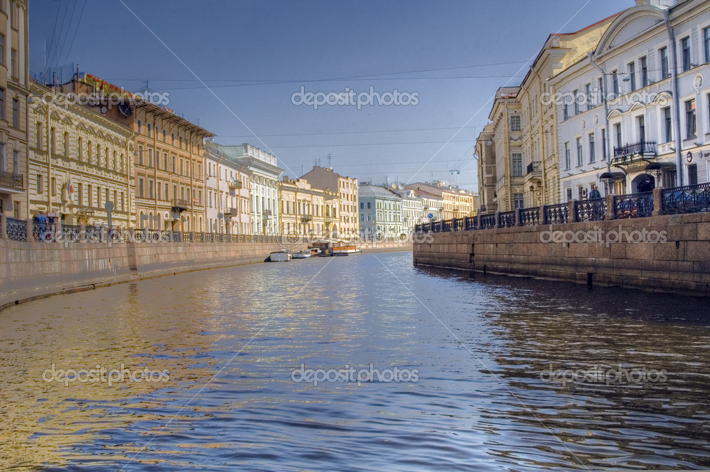 Saint Petersburg. Russia. Fontanka river from boat  Stock Photo #3812777