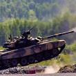 Stock Photo: Shooting tank T-80
