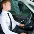 Driving man — Stock Photo