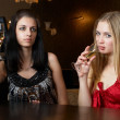 Royalty-Free Stock Photo: Young women in a bar