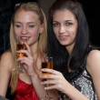 Stock Photo: Young women in bar