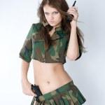 sexy Mädchen mit Pistole — Stockfoto #3896720