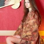 Mädchen im kimono — Stockfoto #3898881