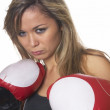 Beautyful boxing girl — Stock Photo