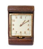 Vintage square clock — Stock Photo