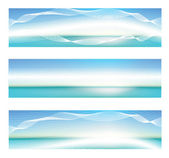 Abstract blue banner — Stock Vector