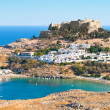 Acropolis in the ancient greek town Lindos — Stock Photo #3763736