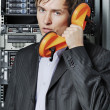 Foto de Stock  : Data-center support specialist