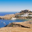 Ancient town Lindos, Rhodes island, Greece — Stock Photo #3764472