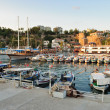 Small boats in a Antalya harbor, Turkey — Stock Photo