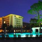 Luxury all inclusive beach resort at night Turkey — Stock Photo