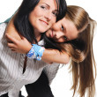 Stock Photo: Mother with daughter isolated on white background