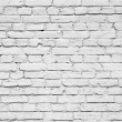 White brick wall — Foto de Stock