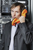 Data-center support specialist — Stock Photo