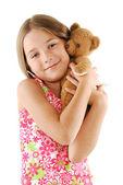 Bambina con orsetto — Foto Stock
