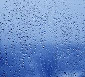 Gocce di pioggia sulla finestra — Foto Stock