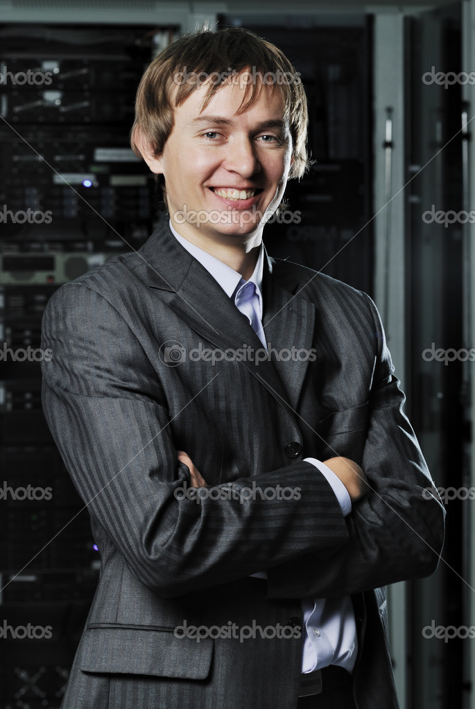 Portrait of young IT businessman — Stock Photo #3764436