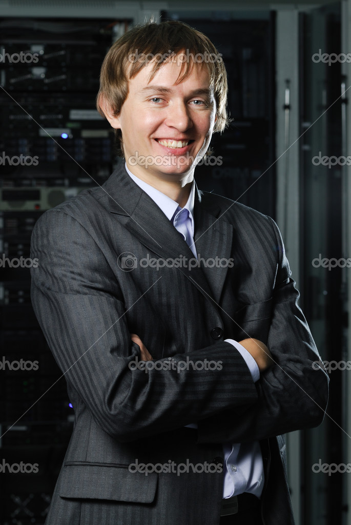 Portrait of young IT businessman  Stock Photo #3764448