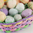 Stock Photo: Easter Eggs in an Easter Basket