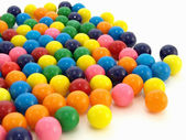 Gumballs over White — Stock Photo