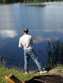 Fishing the Lake — Stock Photo