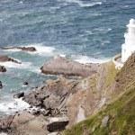 Lighthouse & Rocks — Stockfoto