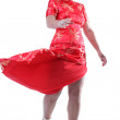 Girl twirling dress — Stock Photo