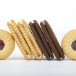 Slanted  biscuits — Stock Photo