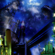 Industrial night - Stock Photo