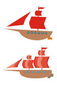 Two ships — Stock Vector