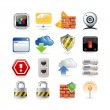 Computer network icon set - Stock Vector