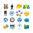 Social-Media-Icon-set — Stockvektor  #3863756